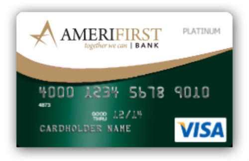 AmeriFirst Cash Back Platinum Visa Card