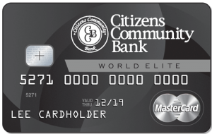 Best Love Interest Credit Cards - Citizens Community Bank World Elite Card