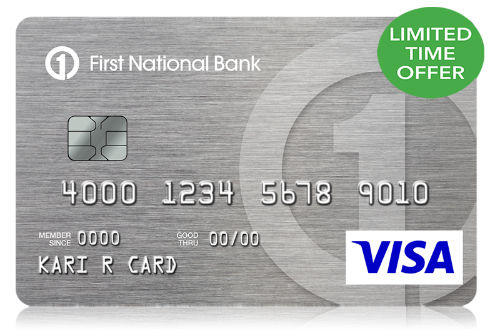 FNBO Cash Back Visa Card