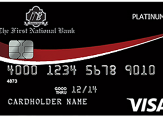 First National Bank Brundidge Cash Back Platinum Visa Card