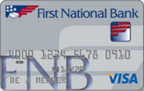 First National Bank Visa Credit Card